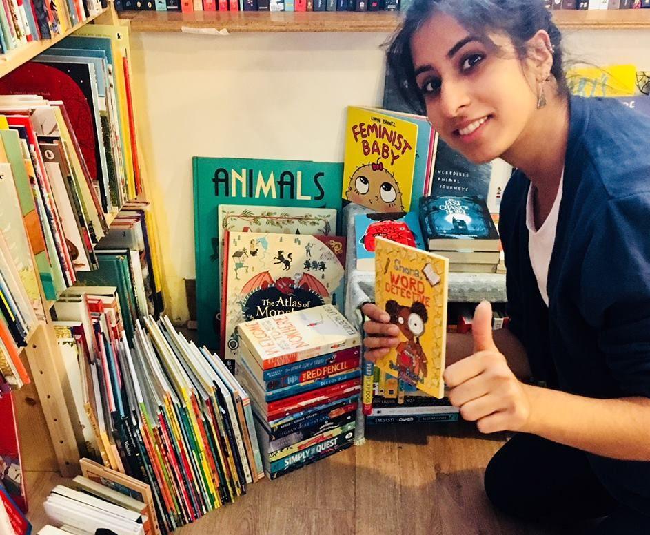 Noor with Books